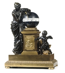 A LARGE EMPIRE ORMOLU AND PATI