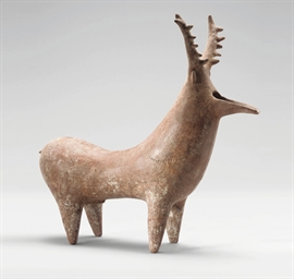 AN AMLASH TERRACOTTA ANIMAL RH