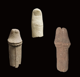 TWO GRAECO-EGYPTIAN TERRACOTTA