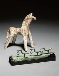 A BOEOTIAN TERRACOTTA HORSE