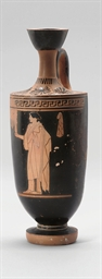 AN ATTIC RED-FIGURE LEKYTHOS,