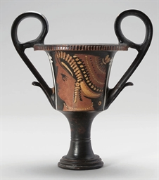 AN APULIAN RED-FIGURE KANTHARO