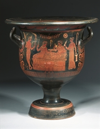 A LARGE APULIAN RED-FIGURE BEL