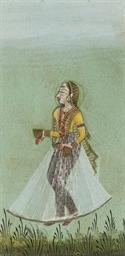 LADY WITH BOTTLE AND CUP, POSS