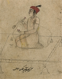 DRAWING OF A GURU HAR KRISHAN,
