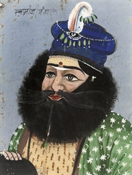 WILDLY BEARDED NOBLE, JAIPUR,