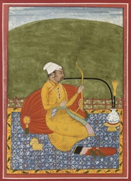 A PORTRAIT OF A SEATED ARCHER,