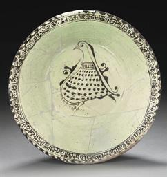 A NISHAPUR POTTERY BOWL, IRAN,