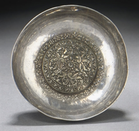 AN OTTOMAN SILVER AND GILT REP