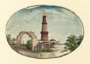 A VIEW OF THE QUTB MINAR, DELH
