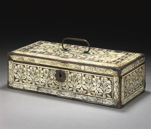 A MUGHAL IVORY INLAID WOODEN C