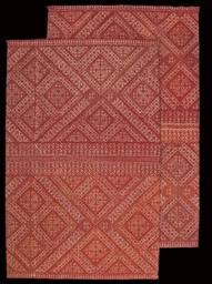 TWO BOLSTER COVERS, FEZ, LATE