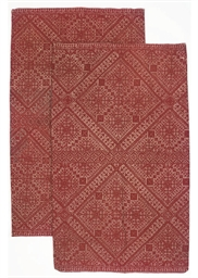 A PAIR OF CUSHION COVERS, FEZ,