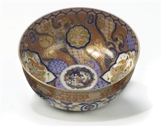 A large Japanese imari bowl