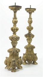A PAIR OF ITALIAN GILTWOOD ALT