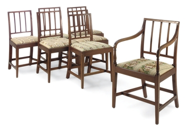 A SET OF SEVEN GEORGE III MAHO