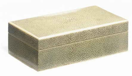 AN ART DECO SHAGREEN AND IVORY