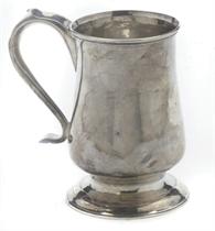 A GEORGE III PROVINCIAL SILVER MUG