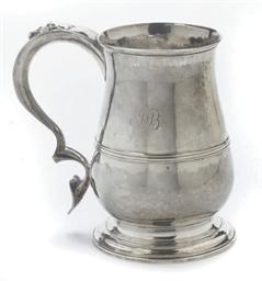 A LARGE GEORGE III SILVER MUG