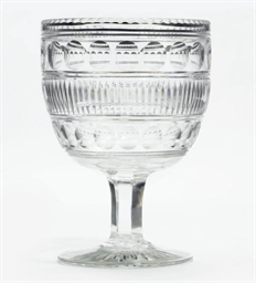 A LARGE CUT-GLASS GOBLET