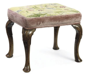 A GEORGE I WALNUT STOOL