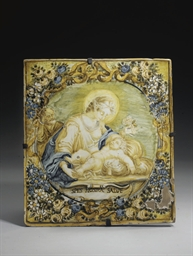 PLAQUE EN FAIENCE ITALIENNE (C