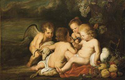 Le Christ Enfant entouré de sa