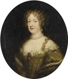 Portrait de dame en buste avec