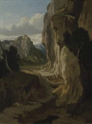Paysage montagneux avec une fa