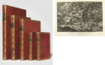 RIDINGER, Johann Elias (1698-1767) and Georg Philipp RUGENDAS (1666-1742). Five volumes containing 693 engravings of hunting and sporting scenes. Augsburg: Jeremias Wolff and J.E. Ridinger, c.1699-1761. 26 suites in 5 volumes, comprising (using Thienemann's numbering for collation):