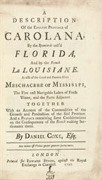 COXE, Daniel (1640-1730). A De