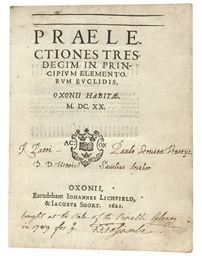 SAVILE, Henry (1549-1622). Pr