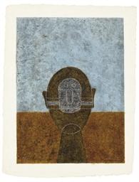Cabeza sobre fondo Azul (P. 32