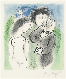 Couple vert et bleu (M. 841)