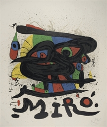 Poster for Miro Sculptures (M.