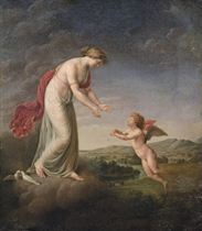 Venus consoling Cupid stung by a Bee