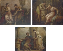 Sappho with the lyric poet Alcaeus; Lesbia with the poet Catullus; and [possibly] the poet Callimachus