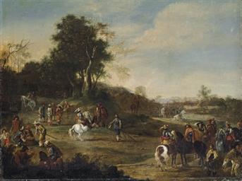 Cavalrymen in a landscape