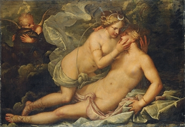 Jupiter in the guise of Diana