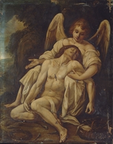 An Angel supporting the Dead Christ