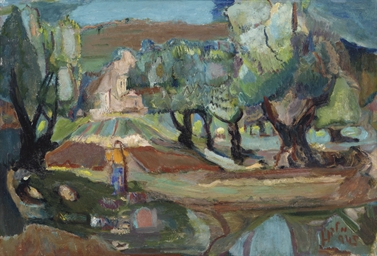 Landscape with Young Girl