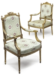 A PAIR OF GILTWOOD AND GESSO F