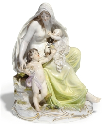 A MEISSEN GROUP ALLEGORICAL OF