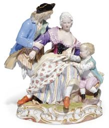 A MEISSEN GROUP OF A FAMILY