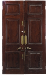 A PAIR OF VICTORIAN PANELLED M