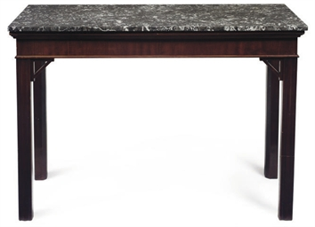 A MAHOGANY CONSOLE TABLE