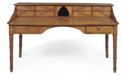 A FRENCH CHERRYWOOD DESK