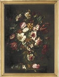 Roses, iris, hydrangea and par