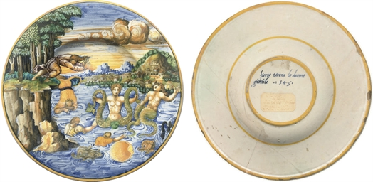 AN URBINO DATED ISTORIATO PLAT