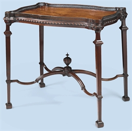 A MAHOGANY TEA-TABLE